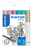 Metallic Colours Pack of Fine Pilot Pintor Paint Markers